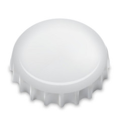 Realistic Bottle Cap On White vector image