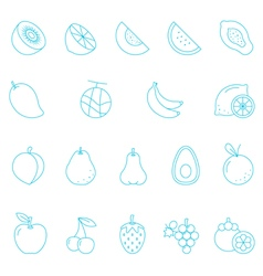 Thin lines icon set - fruit vector image vector image