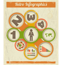 Vintage Retro Infographics design vector image vector image