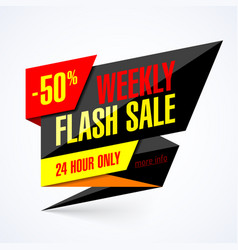 Weekly flash sale banner vector
