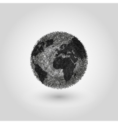 Abstract Globe planet Earth concept global vector image vector image