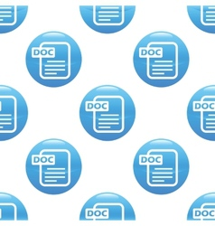 Doc file sign pattern vector image vector image