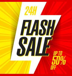 flash sale banner vector image vector image