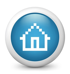 home glossy icon vector image vector image