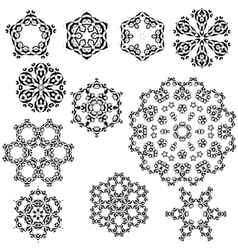 set of vintage snowflakes for your winter vector image