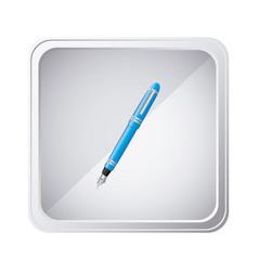 emblem blue ballpoint icon vector image vector image