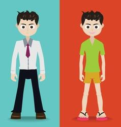 Man character vector image