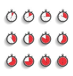 Stopwatch Icons vector image vector image