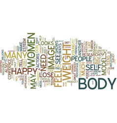 teen chat steps to have a great body image text vector image