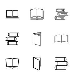 9 encyclopedia icons vector image