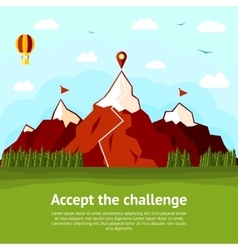 Accept challenge concept card with high vector
