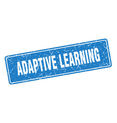 Adaptive learning stamp adaptive learning vintage vector