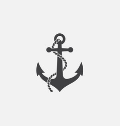 anchor and rope icon vector image