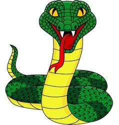 angry cobra cartoon vector image