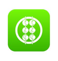 Asian shashlik icon digital green vector