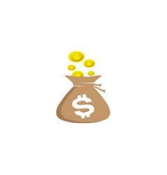 bag money treasure and save currencies vector image