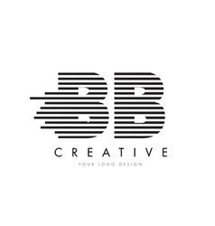 Bb b b zebra letter logo design with black and vector