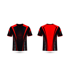 Black and red layout e-sport t-shirt design vector
