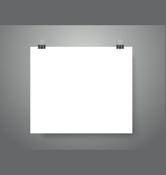 Blank picture frame on the wall mockup vector