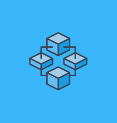 Block chain cryptocurrency modern icon or vector
