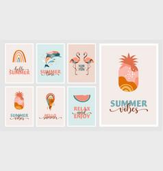 bohemian summer modern summer vector image