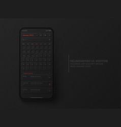 Calendar mobile ios app january 2022 ui ux vector