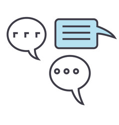 Chats talking talks concept line icon vector