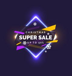 christmas sale banner original poster vector image