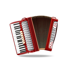 classical bayan accordion harmonic jews-harp vector image