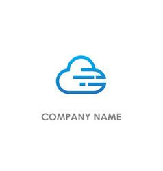 cloud technology logo vector image