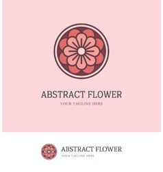 colorful round flower logo vector image