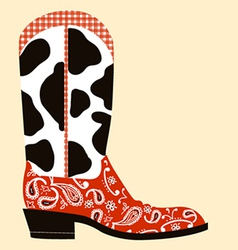 Cowboy boot decorationWestern symbol vector