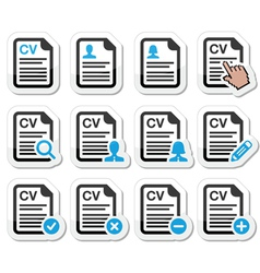 CV - Curriculum vitae resume icons set vector