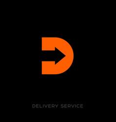 delivery service logo d monogram vector image