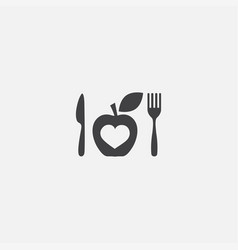 diet base icon simple sign diet vector image