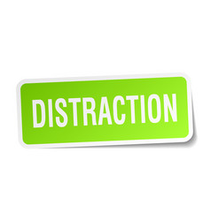 Distraction square sticker on white vector