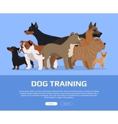 Dog Training Concept Flat Style Web Banner vector