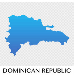 Dominican republic map in north america continent vector