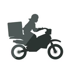Enduro motorcycle silhouette vector