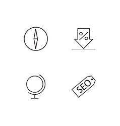 Essential icons set vector