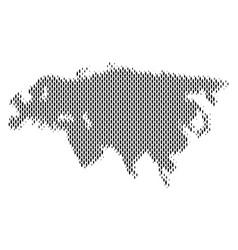 Eurasia map population demographics vector