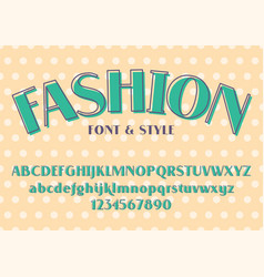 fashion and wedding font vector image