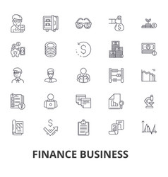 finance business bank money finance concept vector image