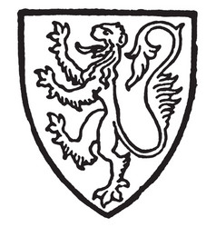 fitzalan earl of arundel bore gules a lion gold vector image