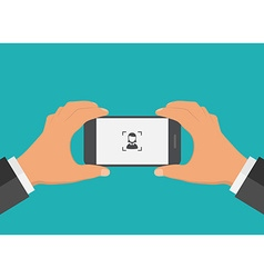 Flat design mobile phone foto concept vector