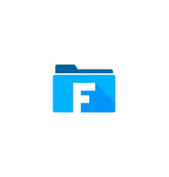 folder letter f logo icon design vector image