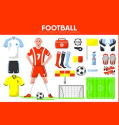 Football sport equipment soccer game player vector