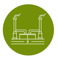 Geothermal power plant icon in thin line style vector