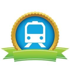 Gold train logo vector