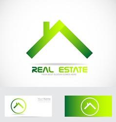 Green real estate logo vector